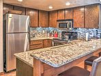 You'll love the modern kitchen and open layout of this Brian Head vacation rental condo!