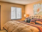 Savor uninterrupted nights of sleep when you slip into the soft sheets that line the king-sized bed in the master...