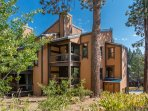 This multi-level townhome offers multiple vantage points of the woods.