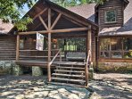The home boasts 3,800 square feet of rustic living space and sleeping accommodations for 18.