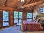Guests staying in the master bedroom will enjoy private access to the deck.