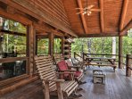 Take in the home's serene setting from this expansive deck.