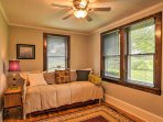 One guest in your travel group will sleep well at night on the twin-sized bed in the second bedroom.