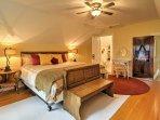 The master bedroom features an en-suite bath.