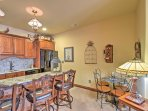 Enjoy morning coffee and breakfast at the kitchen bar or breakfast nook.