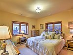 Sleep soundly in the plush king bed of the master bedroom.