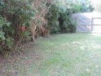 Spacious private back garden