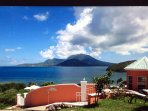 Home with view of Mt Nevis