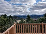 Enjoy the incredible views from this mountain top home.