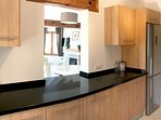 The villas new fully fitted kitchen