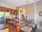 Offering a full modern kitchen