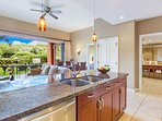 With granite countertops and stainless Bosch appliances