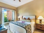 The bedroom features a sumptuous king size bed