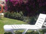 poolside sunbeds provided
