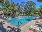 Located just steps from the community pool, you and your guests will enjoy endless fun in the sun.