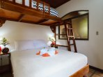 Hand-crafted beds from local cedar wood. Individual a/c units in all bedrooms.