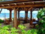 Roy's restaurant on the beach near the villas!