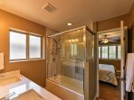 Wash off in the walk-in shower to prepare for each exciting day.