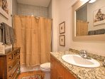 Stocked with complimentary toiletries, 2 full bathrooms provide comfort and privacy for guests.
