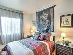 In the fourth bedroom you'll find a comfy queen-sized bed and a flat-screen TV w/ DVD player.