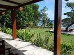 Covered deck with views to Mele Bay and beyond