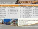 Shuttle van schedule