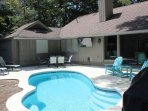Pool Deck with TV