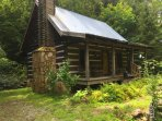 Cherry Bluff cabin sits high above and very close to Betty Creek