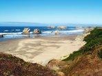 Oregon beach.