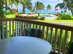 Unobstructed view of the Caribbean Ocean, right from our veranda