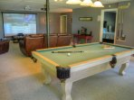 Pool Table and Theater Area on Lower Level