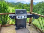 Gas Grill on Lower Deck