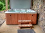 Awesome 6 Person Hot Tub with Waterfall