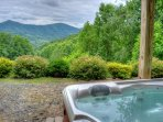 Enjoy the Views of 3 Top Mountain in our Hot Tub