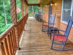 Spacious Covered Deck to Rock and Enjoy the Views