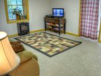 Lower Level Family Room with Sleeper Sofa Cable TV