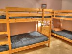 2 Sets of Bunkbeds in Basement