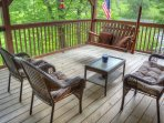 Upper Deck with Relaxing Porch Swing