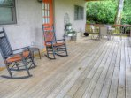 Lower Coverd Deck with Table and Chairs