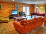 Basement Family Room with TV, Gas FP