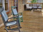 Take in the views on covered deck.