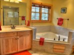 Updated Master Bathroom with Whirlpool jetted tub