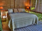 Sleep Outside in Our King Bed On Covered Deck