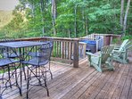 Back Deck to enjoy the views and hot tub