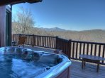Amazing hot tub with VIEWS!!
