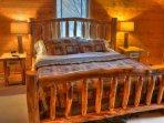 King Bed on Upper Floor in 3rd bedroom