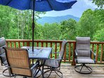 Enjoy outdoor dining with views of Grandfather Mtn