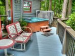 Hot Tub and Seating on Private Deck
