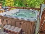 5-6 Person Hot Tub & Gas Grill