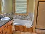 Master Bathroom with Stand Up Shower & Double Sink